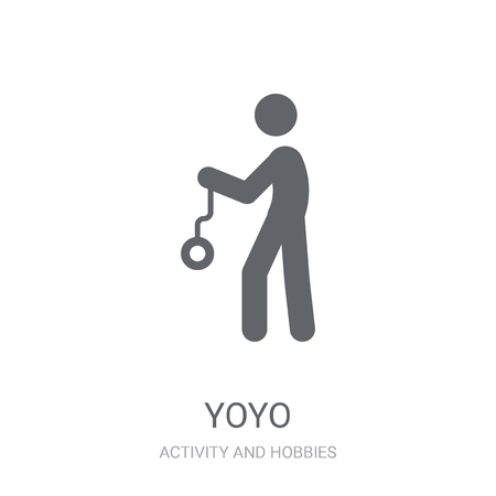 Yoyo icon. Trendy Yoyo logo concept on white background from Activity and Hobbies collection. Suitable for use on web apps, mobile apps and print media.