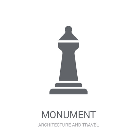 Monument icon. Trendy Monument logo concept on white background from Architecture and Travel collection. Suitable for use on web apps, mobile apps and print media.