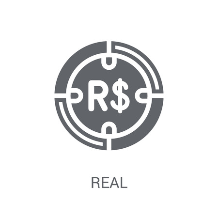 Real icon. Trendy Real logo concept on white background from Cryptocurrency economy and finance collection. Suitable for use on web apps, mobile apps and print media.