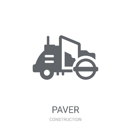 Paver icon. Trendy Paver logo concept on white background from Construction collection. Suitable for use on web apps, mobile apps and print media.