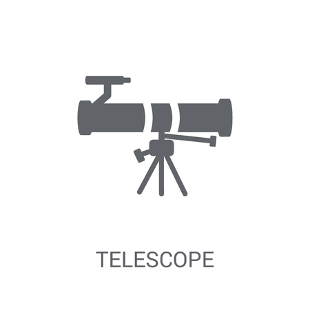 Telescope icon. Trendy Telescope logo concept on white background from Astronomy collection. Suitable for use on web apps, mobile apps and print media.