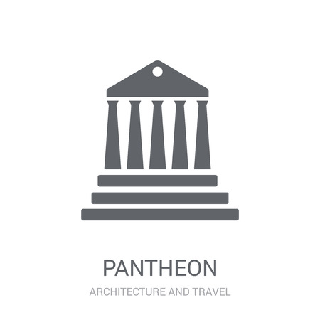 Pantheon icon. Trendy Pantheon logo concept on white background from Architecture and Travel collection. Suitable for use on web apps, mobile apps and print media. 版權商用圖片 - 112052169