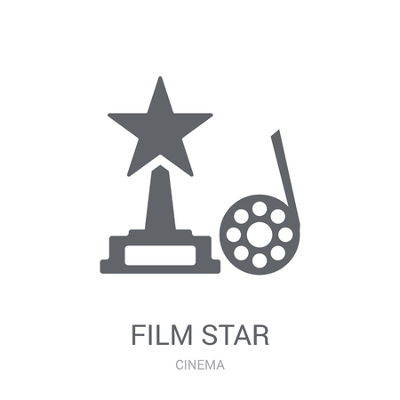 film star icon. Trendy film star logo concept on white background from Cinema collection. Suitable for use on web apps, mobile apps and print media.