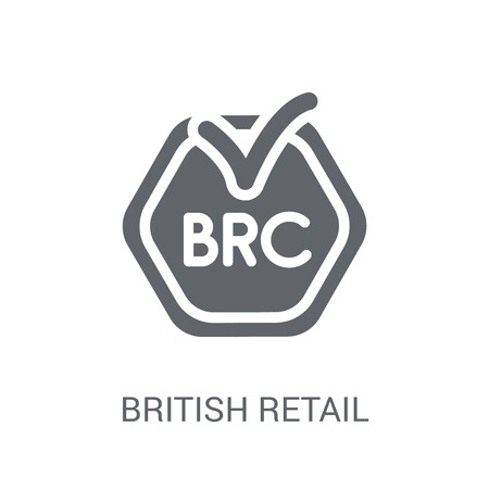 British Retail Consortium icon. Trendy British Retail Consortium logo concept on white background from business collection. Suitable for use on web apps, mobile apps and print media. Logo