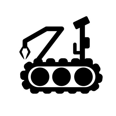 Military robot machine icon. Trendy Military robot machine logo concept on white background from army and war collection. Suitable for use on web apps, mobile apps and print media. Illustration