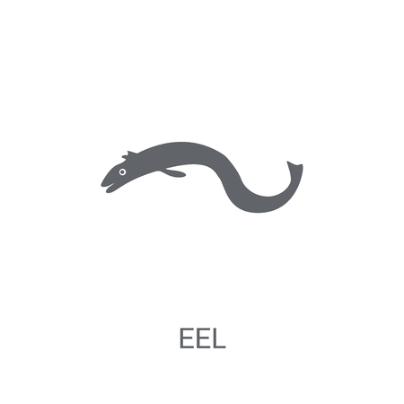 Eel icon. Trendy Eel logo concept on white background from animals collection. Suitable for use on web apps, mobile apps and print media.
