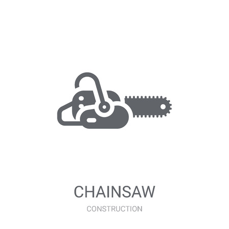 Chainsaw icon. Trendy Chainsaw logo concept on white background from Construction collection. Suitable for use on web apps, mobile apps and print media. Illustration