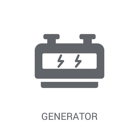 Generator icon. Trendy Generator logo concept on white background from Astronomy collection. Suitable for use on web apps, mobile apps and print media. Illustration