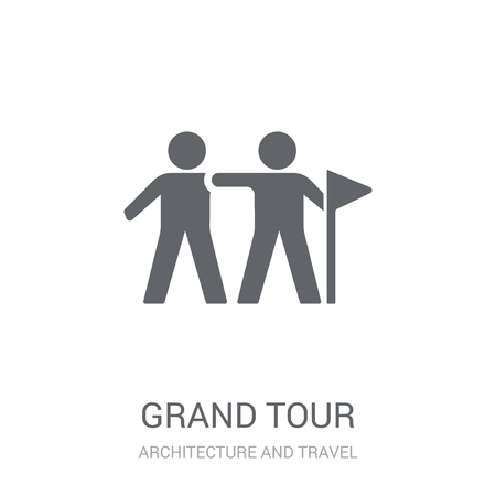 grand tour icon. Trendy grand tour logo concept on white background from Architecture and Travel collection. Suitable for use on web apps, mobile apps and print media.