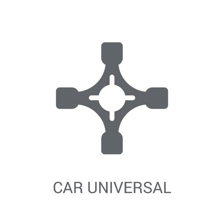 auto giunto universale icona. Concetto di marchio di giunto universale auto alla moda su priorità bassa bianca da collezione di parti di auto. Adatto per l'uso su app Web, app mobili e supporti di stampa.