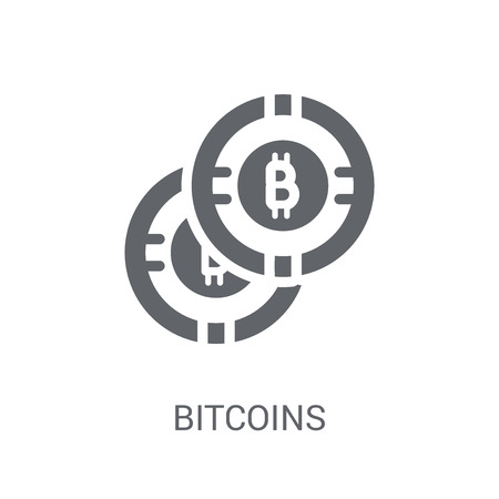 Bitcoins icon. Trendy Bitcoins logo concept on white background from Cryptocurrency economy and finance collection. Suitable for use on web apps, mobile apps and print media.
