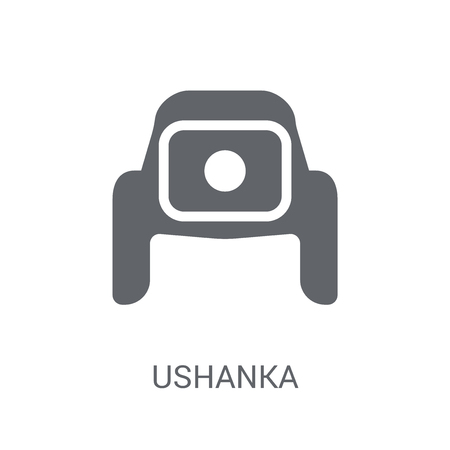 ushanka icon. Trendy ushanka logo concept on white background from Clothes collection. Suitable for use on web apps, mobile apps and print media. Illustration