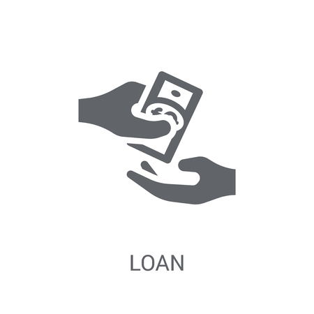 Loan icon. Trendy Loan logo concept on white background from Cryptocurrency economy and finance collection. Suitable for use on web apps, mobile apps and print media.