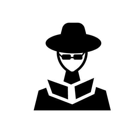secret agent icon. Trendy secret agent logo concept on white background from army and war collection. Suitable for use on web apps, mobile apps and print media.