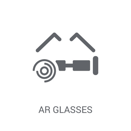 Ar glasses icon. Trendy Ar glasses logo concept on white background from Artificial Intelligence collection. Suitable for use on web apps, mobile apps and print media.