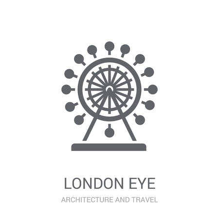 London eye icon. Trendy London eye logo concept on white background from Architecture and Travel collection. Suitable for use on web apps, mobile apps and print media.
