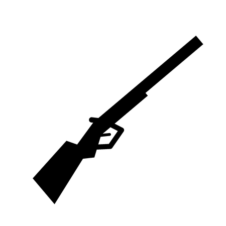 Shotgun icon. Trendy Shotgun logo concept on white background from army and war collection. Suitable for use on web apps, mobile apps and print media. Illusztráció