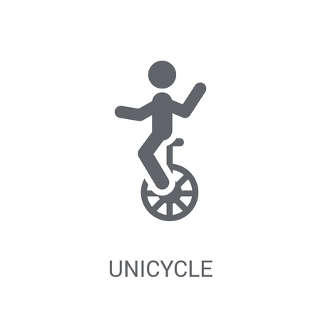 Unicycle icon. Trendy Unicycle logo concept on white background from Circus collection. Suitable for use on web apps, mobile apps and print media.