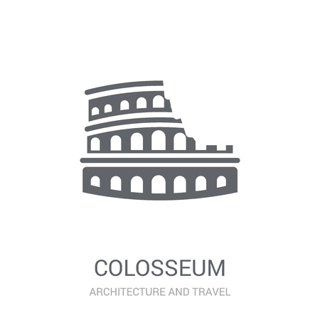 Colosseum icon. Trendy Colosseum logo concept on white background from Architecture and Travel collection. Suitable for use on web apps, mobile apps and print media. Stock Illustratie