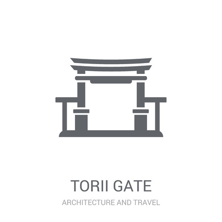 Torii gate icon. Trendy Torii gate logo concept on white background from Architecture and Travel collection. Suitable for use on web apps, mobile apps and print media. Illustration