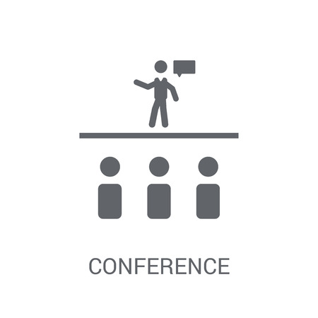 Conference icon. Trendy Conference logo concept on white background from Business and analytics collection. Suitable for use on web apps, mobile apps and print media.