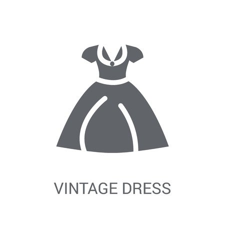 vintage dress icon. Trendy vintage dress logo concept on white background from Clothes collection. Suitable for use on web apps, mobile apps and print media.