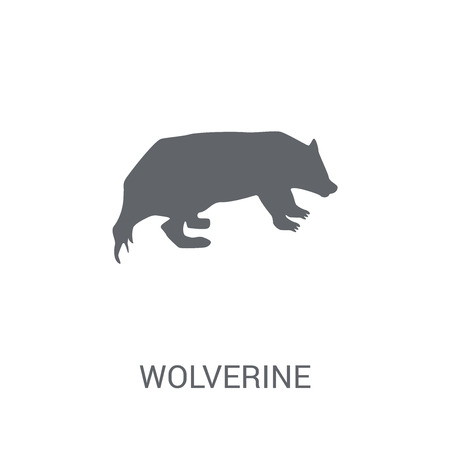 Wolverine icon. Trendy Wolverine logo concept on white background from animals collection. Suitable for use on web apps, mobile apps and print media. Çizim