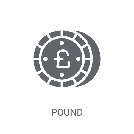 Pound icon. Trendy Pound logo concept on white background from Cryptocurrency economy and finance collection. Suitable for use on web apps, mobile apps and print media.
