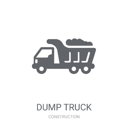 Dump truck icon. Trendy Dump truck logo concept on white background from Construction collection. Suitable for use on web apps, mobile apps and print media.