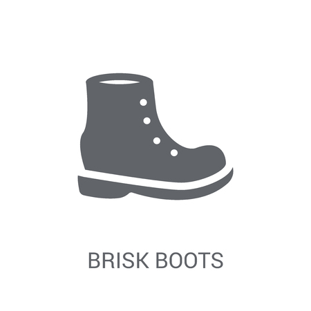 brisk boots icon. Trendy brisk boots logo concept on white background from Clothes collection. Suitable for use on web apps, mobile apps and print media. Illustration