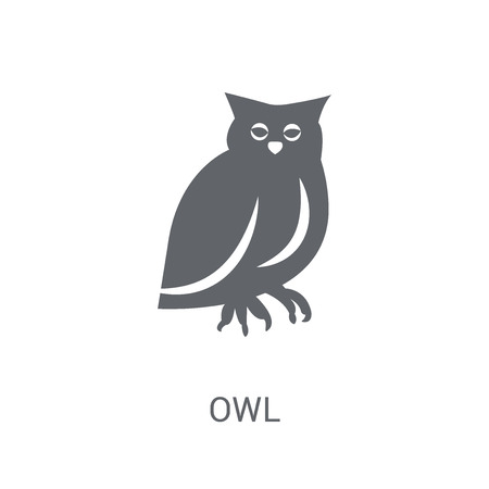 Owl icon. Trendy Owl logo concept on white background from animals collection. Suitable for use on web apps, mobile apps and print media.