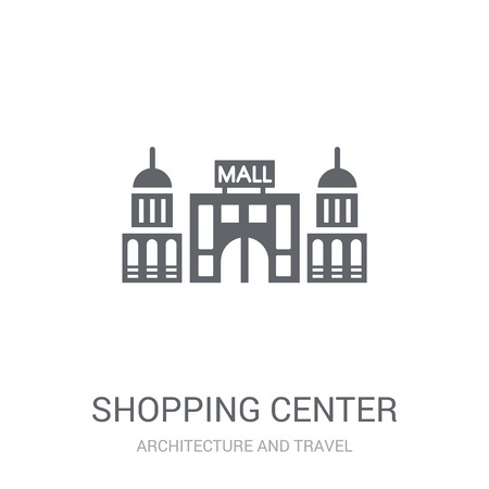 Shopping center icon. Trendy Shopping center logo concept on white background from Architecture and Travel collection. Suitable for use on web apps, mobile apps and print media.