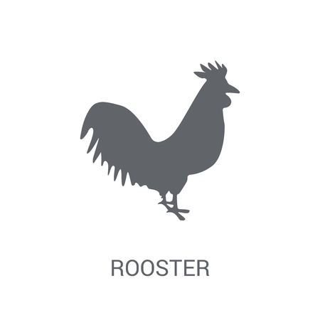 Rooster icon. Trendy Rooster logo concept on white background from animals collection. Suitable for use on web apps, mobile apps and print media. Ilustração