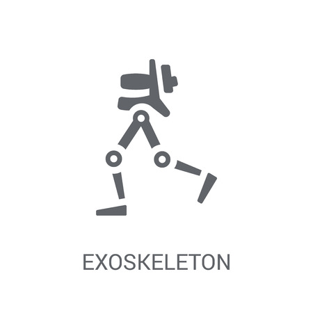 Exoskeleton icon. Trendy Exoskeleton logo concept on white background from Artificial Intelligence collection. Suitable for use on web apps, mobile apps and print media.