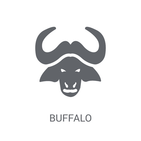 Buffalo icon. Trendy Buffalo logo concept on white background from animals collection. Suitable for use on web apps, mobile apps and print media.