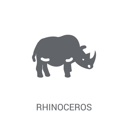 Rhinoceros icon. Trendy Rhinoceros logo concept on white background from animals collection. Suitable for use on web apps, mobile apps and print media. Illustration