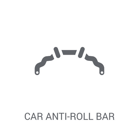 car anti-roll bar icon. Trendy car anti-roll bar logo concept on white background from car parts collection. Suitable for use on web apps, mobile apps and print media.