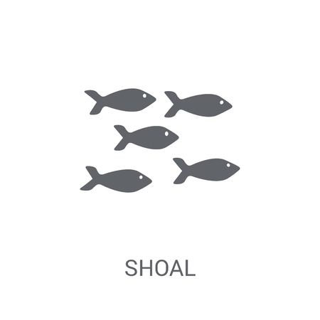 Shoal icon. Trendy Shoal logo concept on white background from animals collection. Suitable for use on web apps, mobile apps and print media.