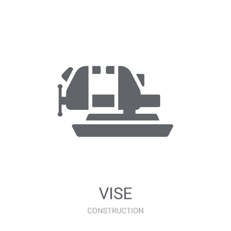 Vise icon. Trendy Vise logo concept on white background from Construction collection. Suitable for use on web apps, mobile apps and print media. Vettoriali