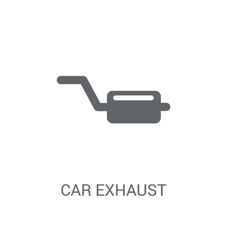 car exhaust icon. Trendy car exhaust logo concept on white background from car parts collection. Suitable for use on web apps, mobile apps and print media.