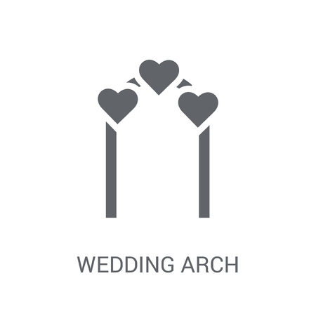 Wedding arch icon. Trendy Wedding arch logo concept on white background from Birthday party and wedding collection. Suitable for use on web apps, mobile apps and print media.