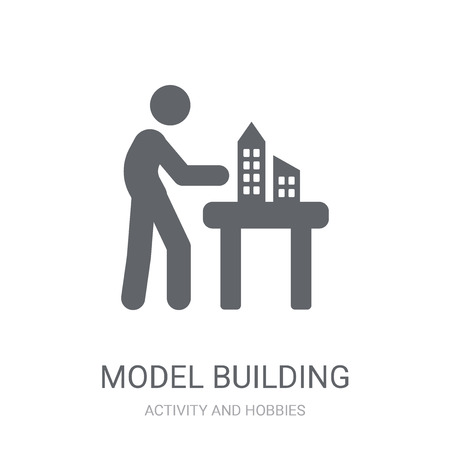 Model building icon. Trendy Model building logo concept on white background from Activity and Hobbies collection. Suitable for use on web apps, mobile apps and print media.