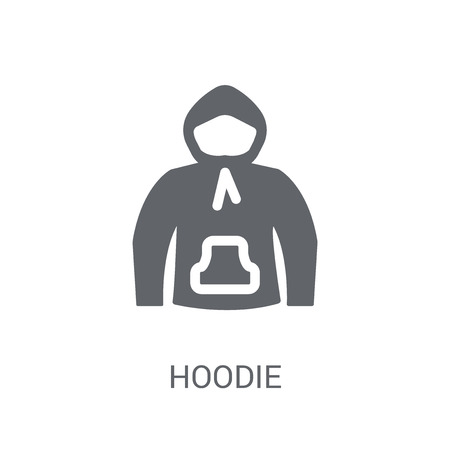 Hoodie icon. Trendy Hoodie logo concept on white background from Clothes collection. Suitable for use on web apps, mobile apps and print media.