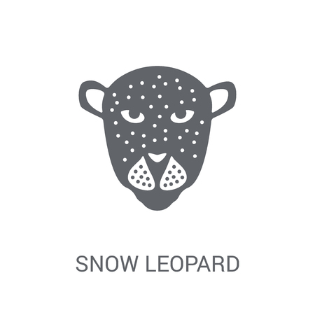 Snow leopard icon. Trendy Snow leopard logo concept on white background from animals collection. Suitable for use on web apps, mobile apps and print media.