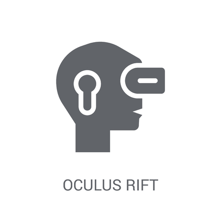 Oculus rift icon. Trendy Oculus rift logo concept on white background from Artificial Intelligence collection. Suitable for use on web apps, mobile apps and print media. Illustration