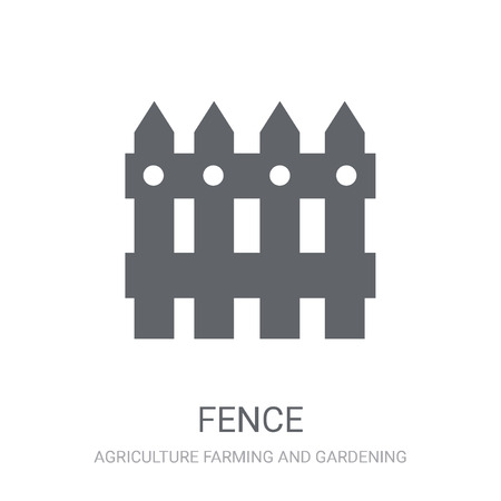 Fence icon. Trendy Fence logo concept on white background from Agriculture Farming and Gardening collection. Suitable for use on web apps, mobile apps and print media.