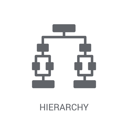 Hierarchy icon. Trendy Hierarchy logo concept on white background from Business and analytics collection. Suitable for use on web apps, mobile apps and print media.