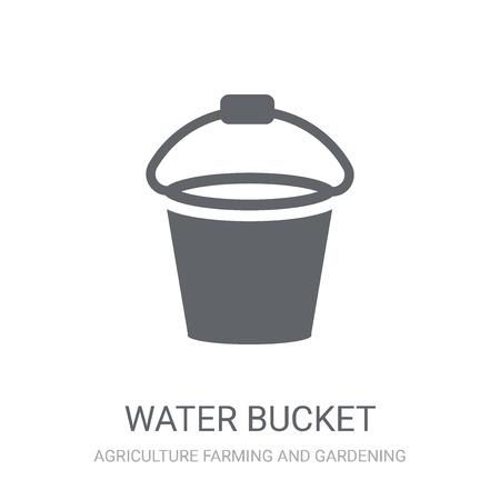 icono de cubo de agua. Moda concepto de logo de cubo de agua sobre fondo blanco de la colección agricultura agricultura y jardinería. Adecuado para su uso en aplicaciones web, aplicaciones móviles y medios impresos. Logos