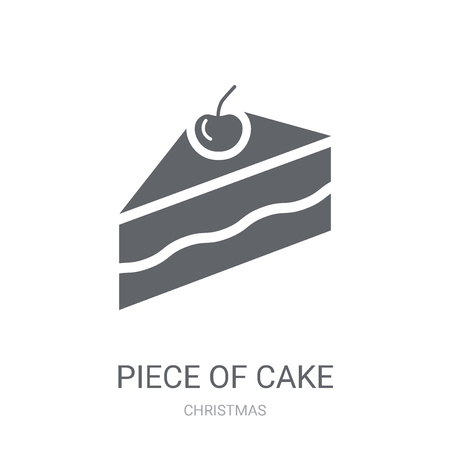 Piece of cake icon. Trendy Piece of cake logo concept on white background from Christmas collection. Suitable for use on web apps, mobile apps and print media.