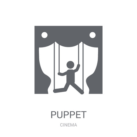 Puppet icon. Trendy Puppet logo concept on white background from Cinema collection. Suitable for use on web apps, mobile apps and print media. Illustration